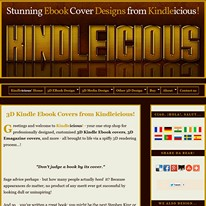 Kindleicious 3D EBook Cover Designs: Click to visit Kindleicious